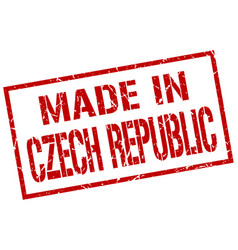 Made in czech republic stamp vector