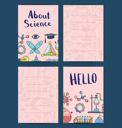notes or card templates set with science or vector image