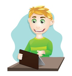 Playing Tablet vector image