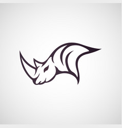 Rhino logo icon vector
