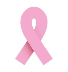 Ribbon pink symbol of breast cancer vector