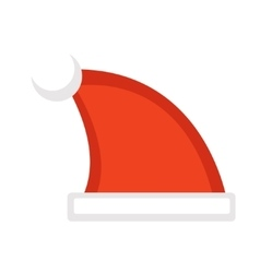 Santa hat icon Isolated on white vector image