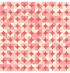 Seamless geometric pattern in retro style vector image vector image