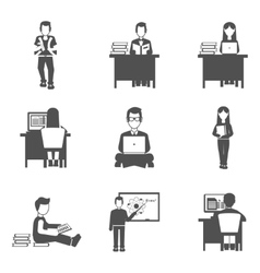 Student icons set vector