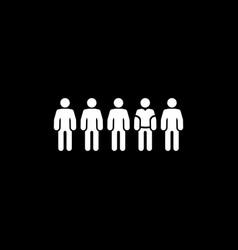 Team icon flat design vector