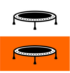 Trampoline for jumping simple black symbol vector