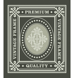 Vintage frame with ornament and decoration element vector image vector image