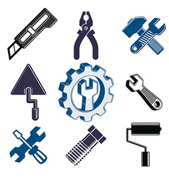 Work tools collection repair instruments for vector image