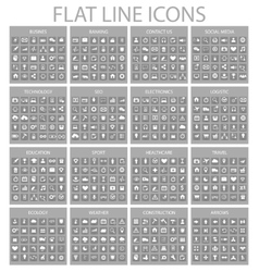 Thin line icons business vector