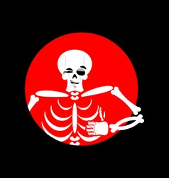 Skeleton showing thumbs up signs all right happy vector