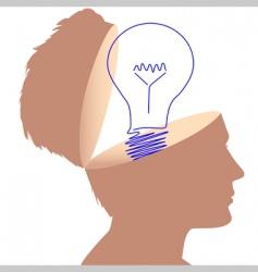 light bulb symbol vector image