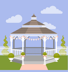 Wedding gazebo vector