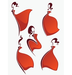 red dresses vector image