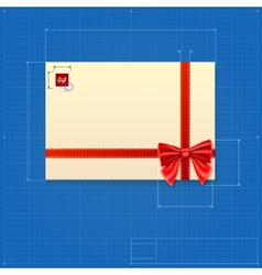 Drawing of a mail envelope vector