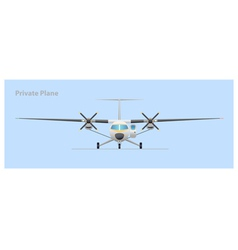 Private plane vector
