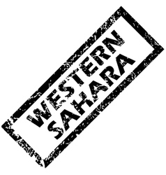 Western sahara rubber stamp vector