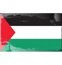 Palestine national flag vector