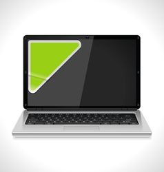 Laptop with sticker vector