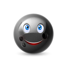 Cartoon bowling ball character vector