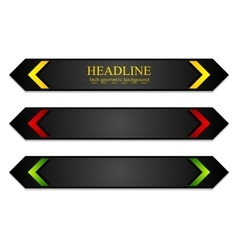 Tech corporate banners with bright arrows vector