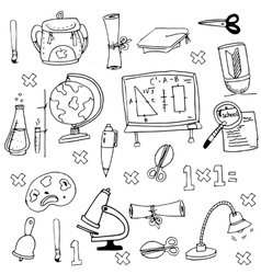Element education in doodle vector