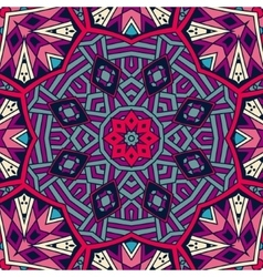 Abstract ethnic colorful mosaic tribal pattern vector