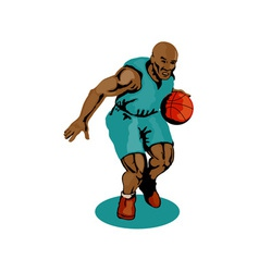 Basketball Player Dribbling vector image