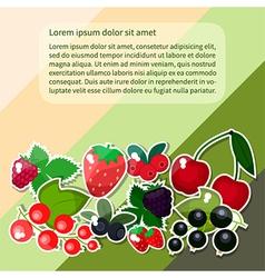 berries text vector image vector image