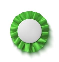 Blank realistic green fabric award ribbon vector