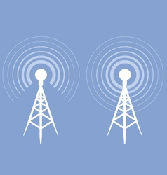 Broadcasting tower icon - antenna silhouette vector