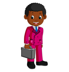 business man characters holding briefcase vector image vector image