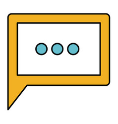 Color sections silhouette of square dialogue in vector
