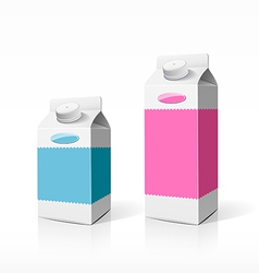 Colorful milk box packaging vector