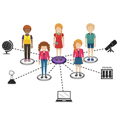 Connections of people vector