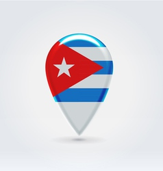 Cuban icon point for map vector image