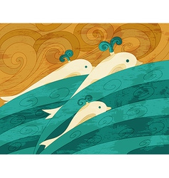 Dolphins art vector image