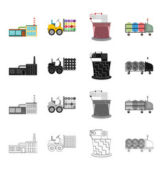 Factory enterprise building and other web icon vector
