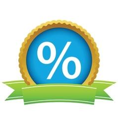 Gold percentage logo vector