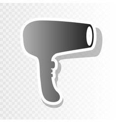 Hair dryer sign new year blackish icon on vector