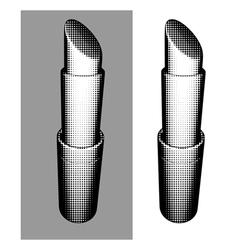 Halftone trendy fashion graphical lipstick vector