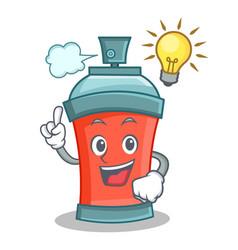 Have an idea aerosol spray can character cartoon vector