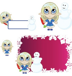 Little elf Blue vector image vector image