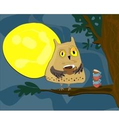 Midnight owl vector