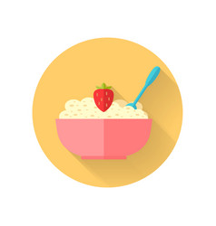 oatmeal dish in flat design vector image vector image