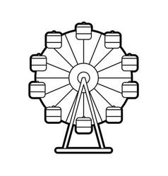 Panoramic wheel isolated icon vector
