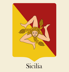 Pennant in the colors of the flag of sicily vector