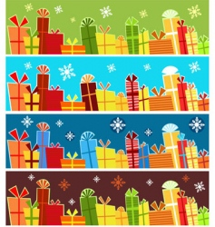 present banners vector image