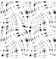 seamless fabric net pattern with lines abstract vector image
