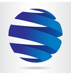 Sfera blue vector image vector image