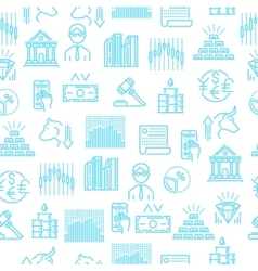 Stock exchange seamless linear pattern vector